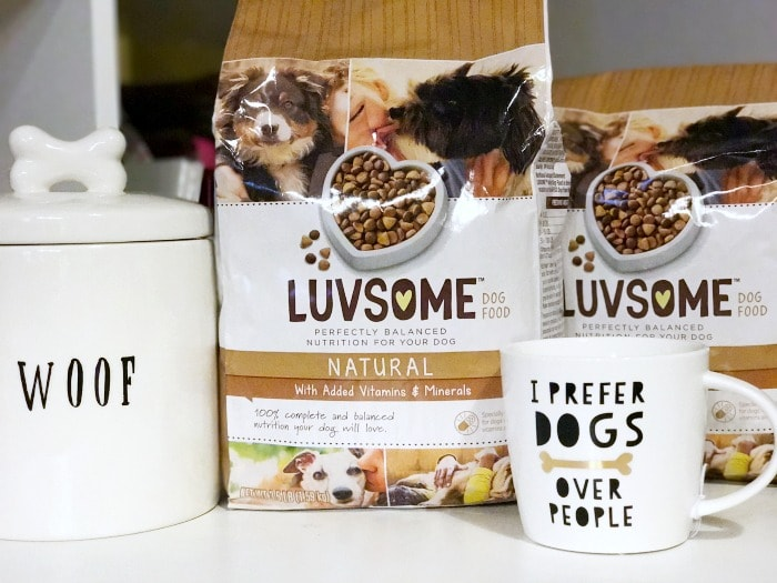 Luvsome dog food is a natural, affordable choice for the family dog