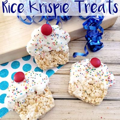Cupcake Rice Krispie Treats