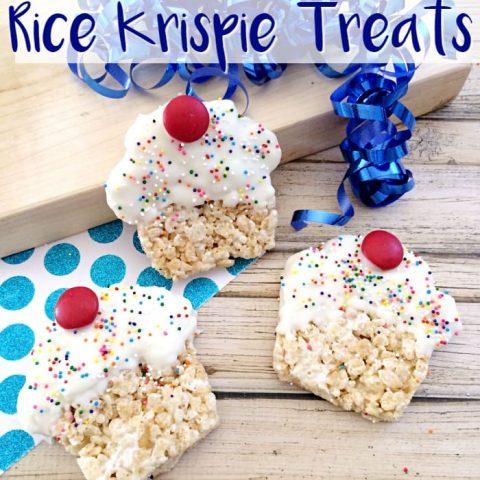 Cupcake Rice Krispie Treats