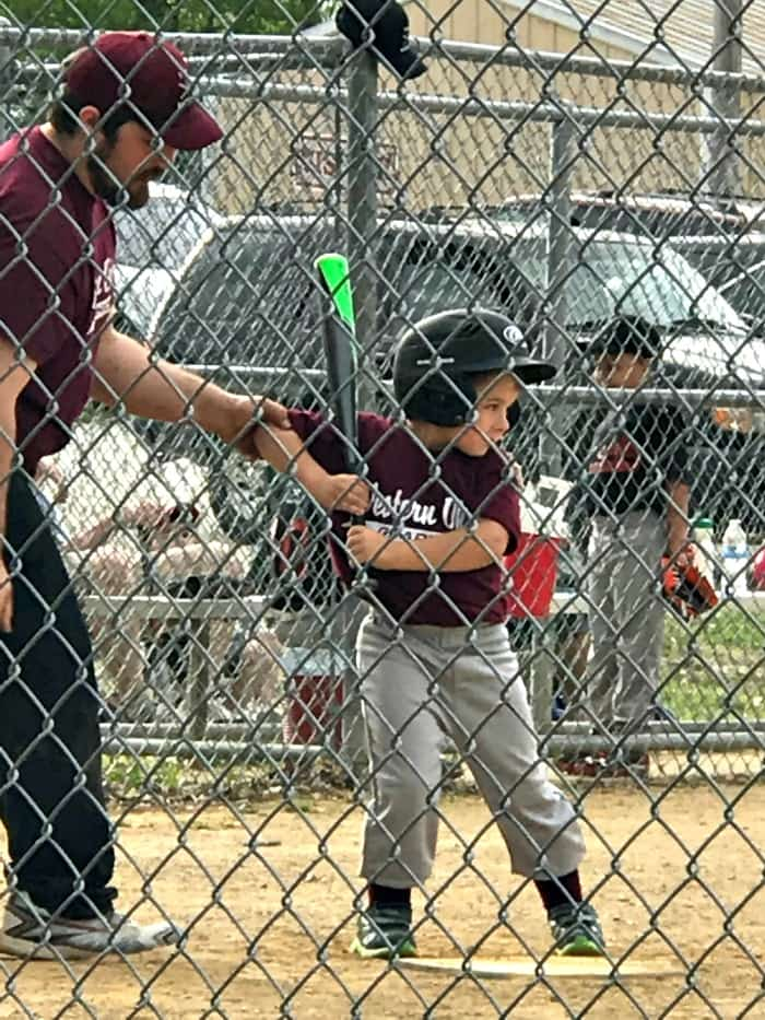 First year of tball for 5 and 6 year olds