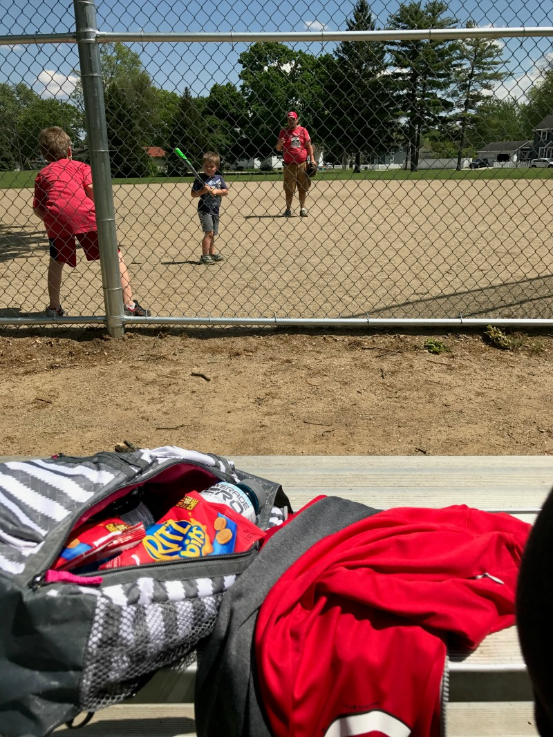 sideline parent view during baseball practice
