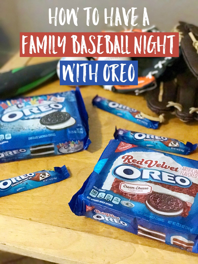 how to have a family baseball night with oreo moments with mandi