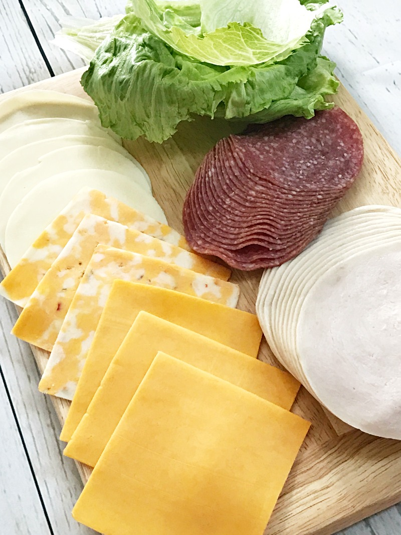 Unwich ingredients with Sargento cheese