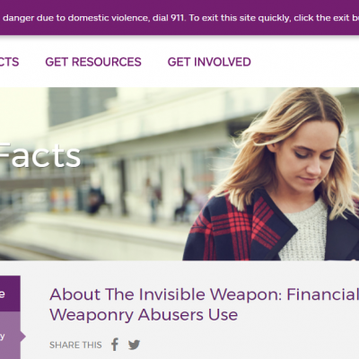 Empowerment and Resources for Domestic Abuse Victims from Allstate Foundation Purple Purse