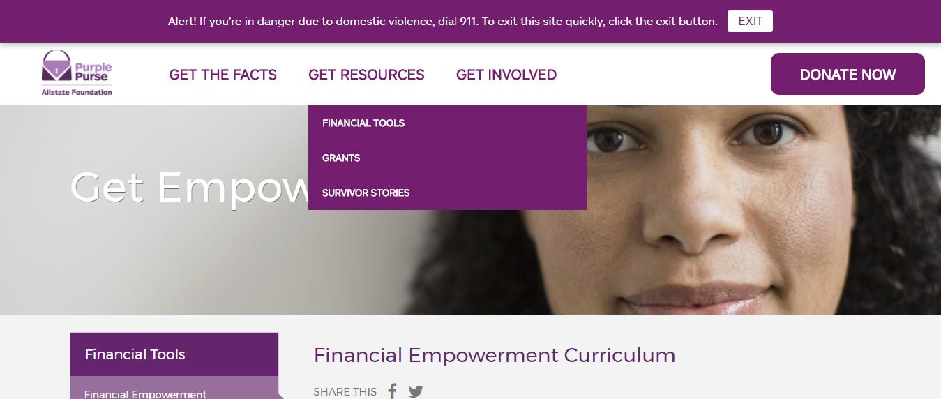 Allstate Purple Purse Foundation financial resources
