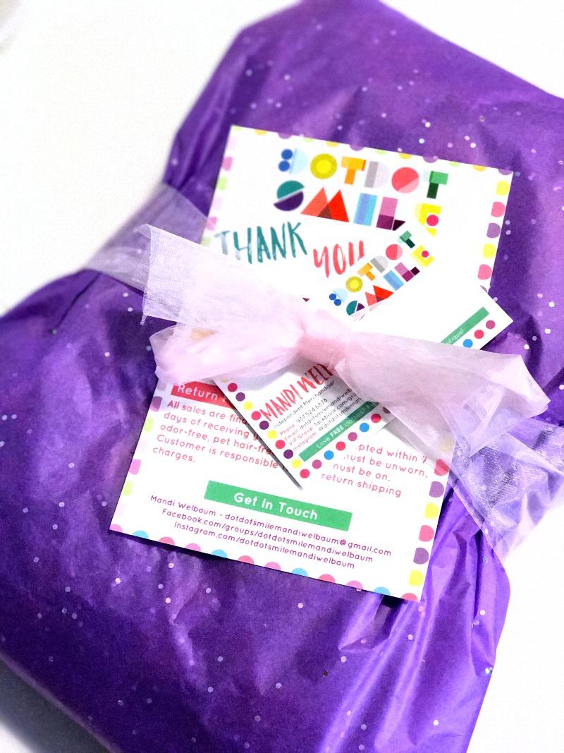 Dot Dot Smile order packaging idea