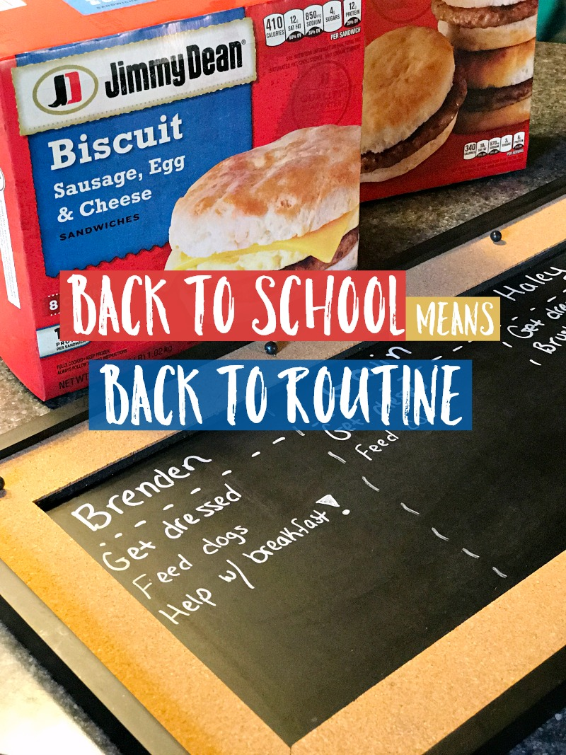 Back to School Back to Routine