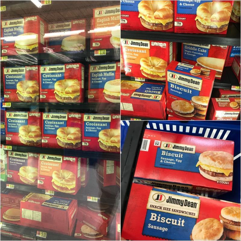 Jimmy Dean breakfast sandwiches at Walmart