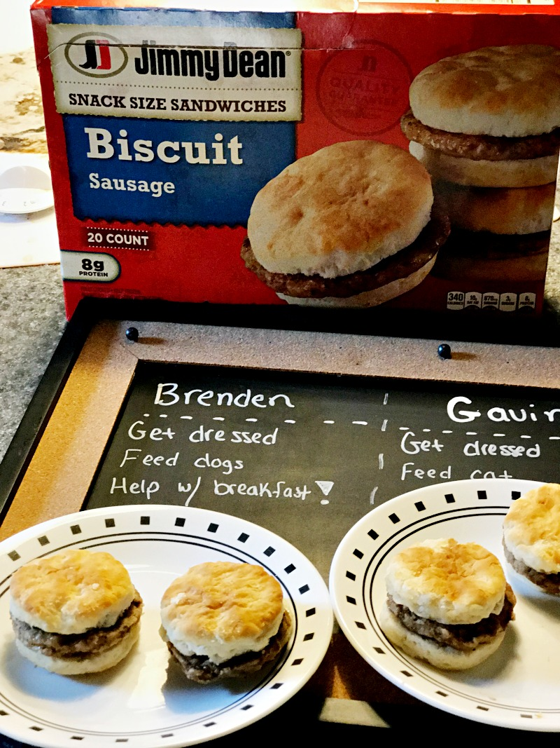Jimmy Dean snack size sandwiches for back to school