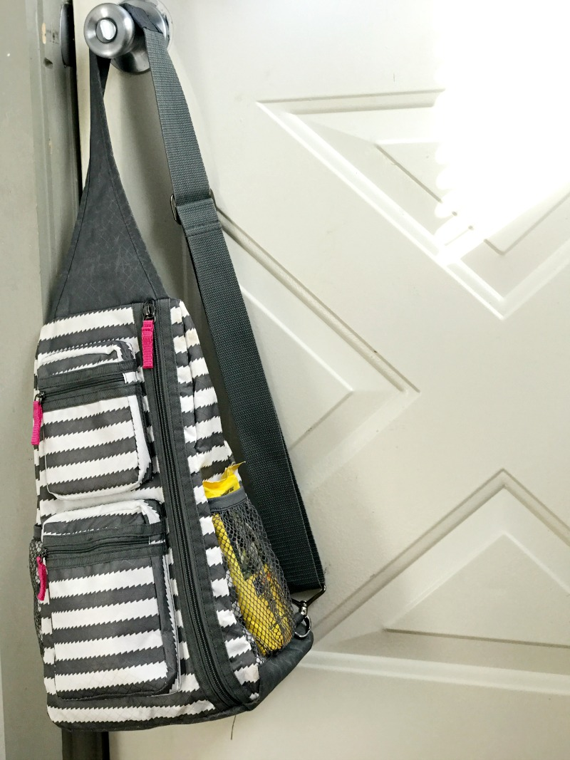 Keep your mom grab and go bag near the door and ready to go