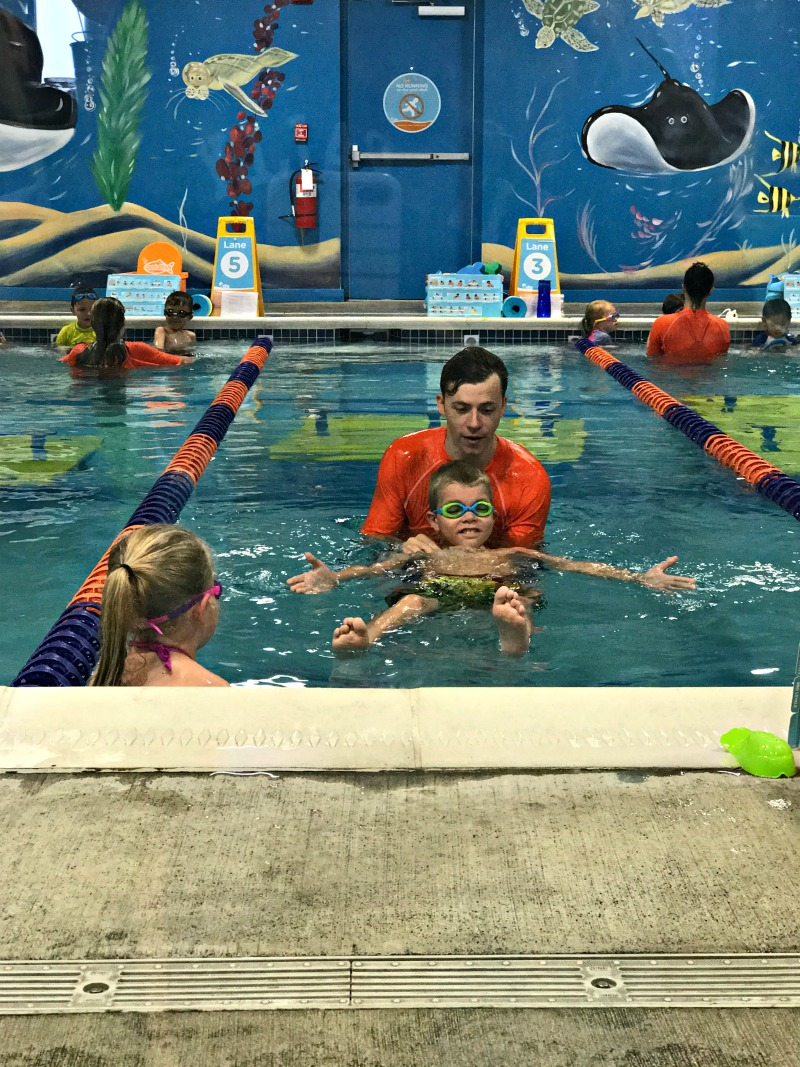 Goldfish Swim School instructors are trained and full of energy