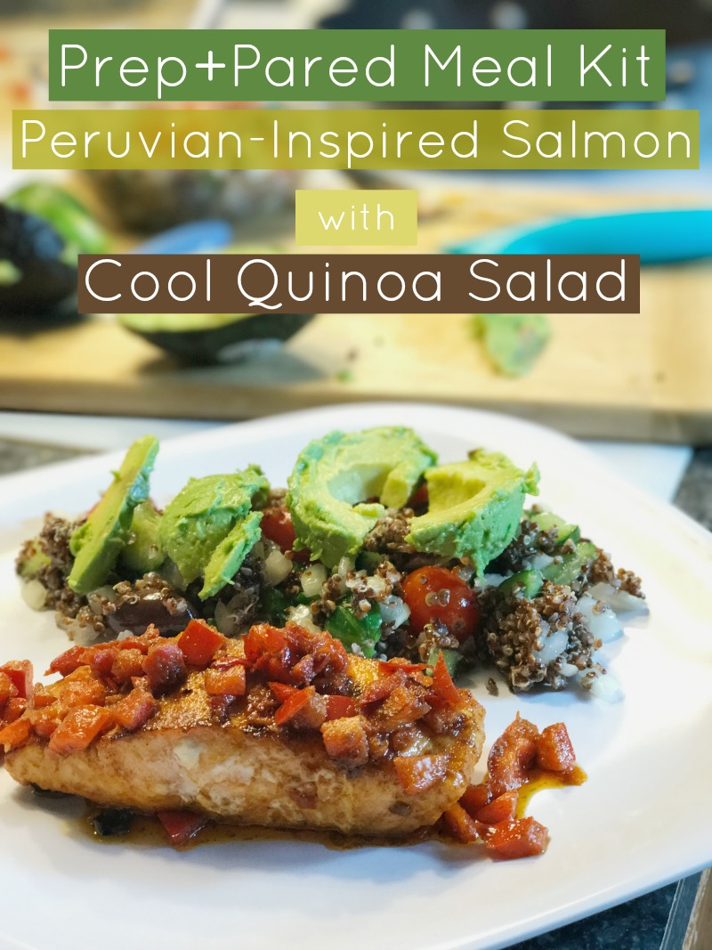 Prep+Pared Meal Kit- Peruvian-Inspired Salmon with Cool Quinoa Salad