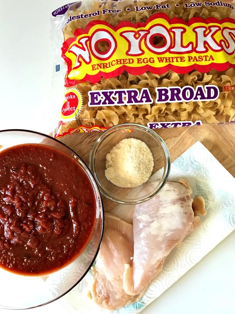 Chicken Cacciatore with NoYolks Extra Broad Noodles