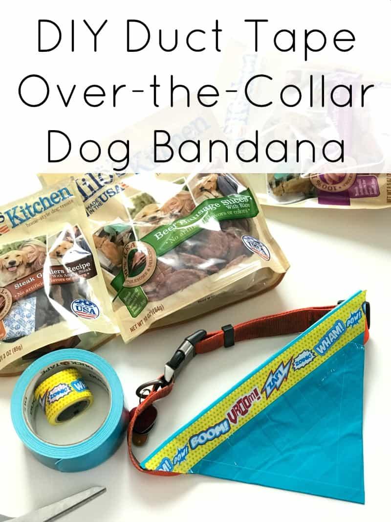 DIY Duct Tape Over-the-Collar Dog Bandana