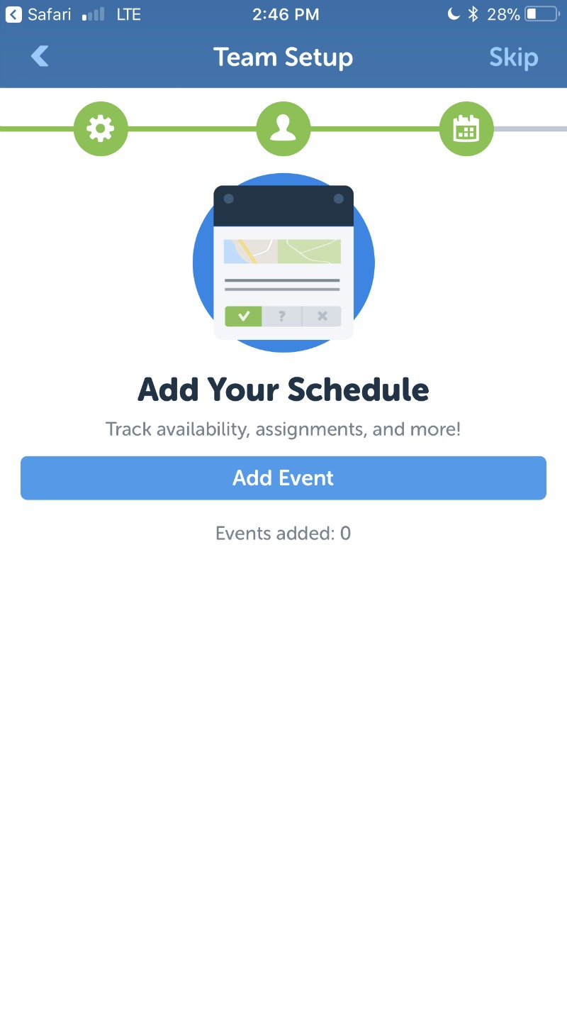 Use TeamSnap to share your team or group schedule