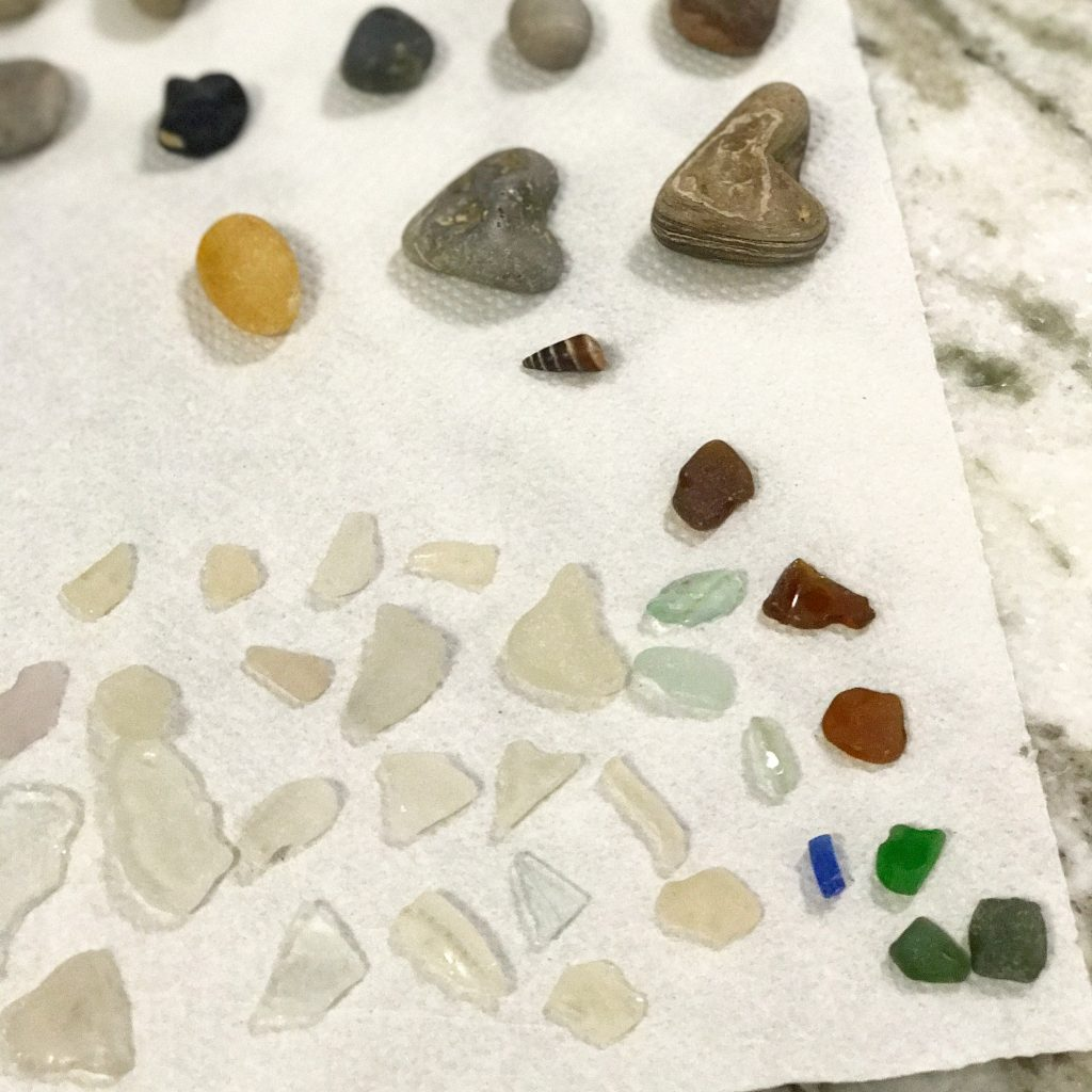 Lake Erie beach glass finds