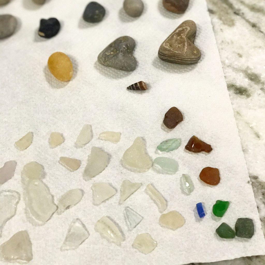 Lake Erie beach glass finds