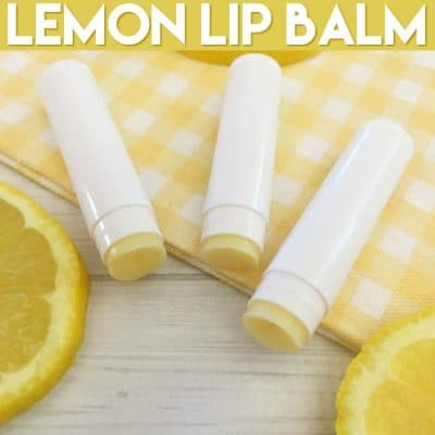 DIY Lemon Lip Balm