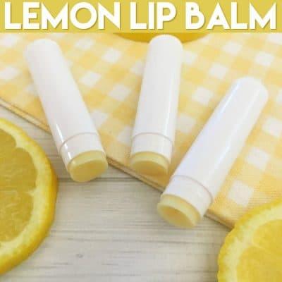 DIY Lemon Lip Balm