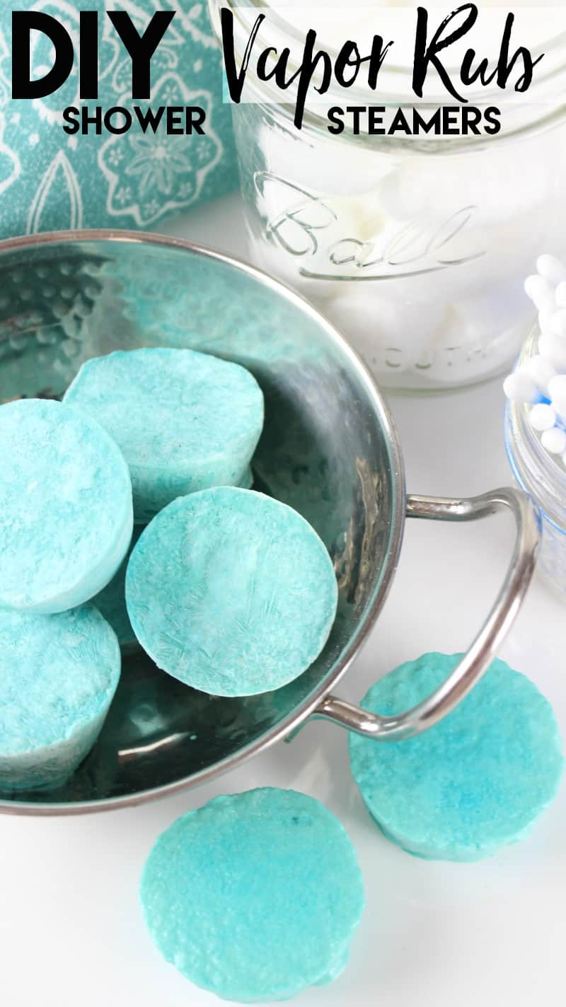 Bowl of homemade VapoRub shower steamers