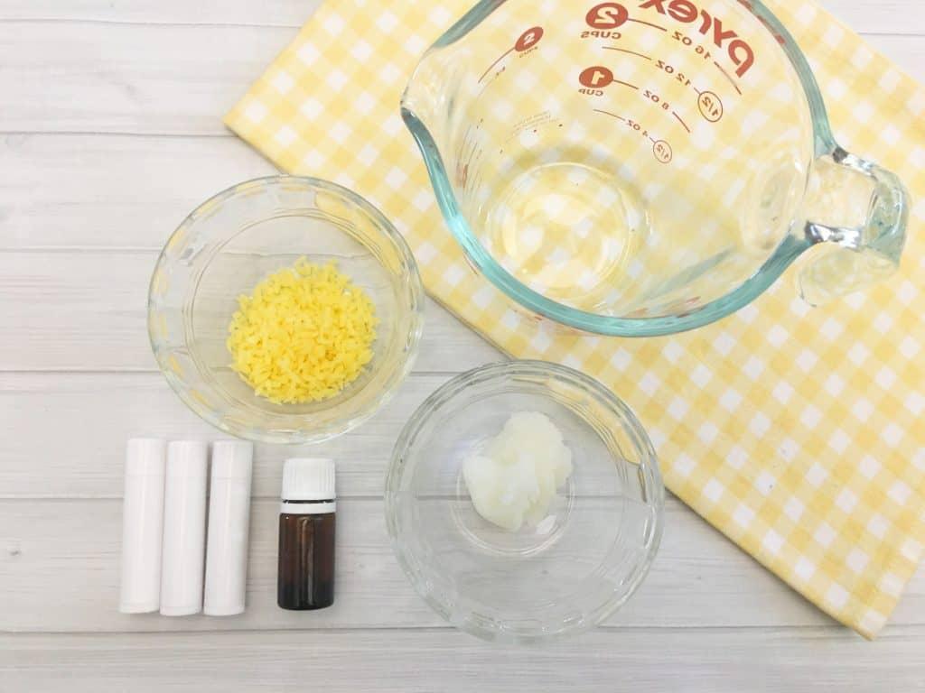 DIY lip balm ingredients