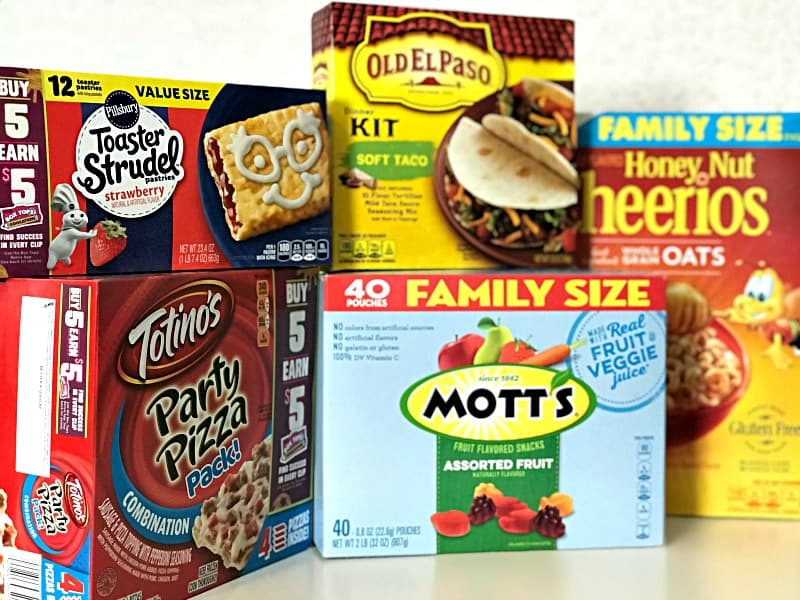 General Mills BoxTops for Education products in packaging
