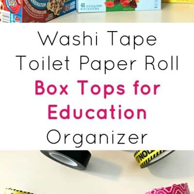 Washi Tape Toilet Paper Roll Organizer for Box Tops for Education