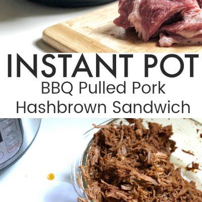 Instant Pot BBQ Pulled Pork Hashbrown Sandwich