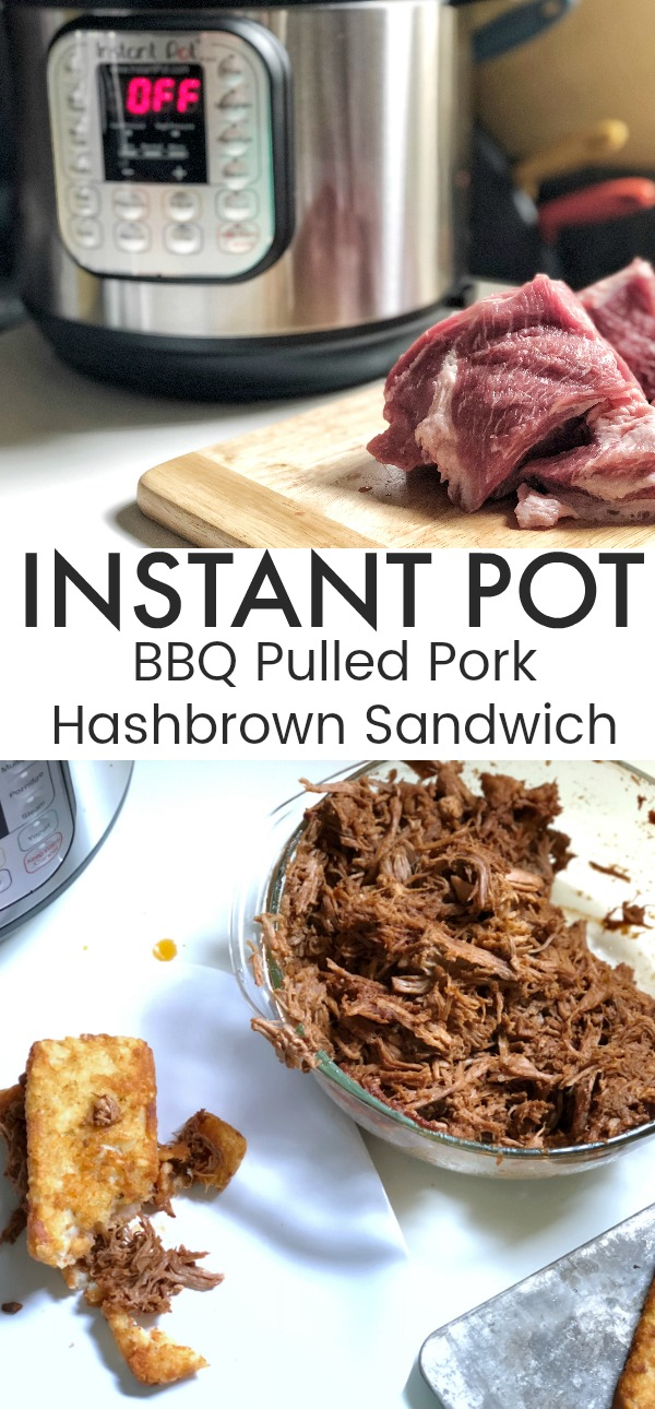 Instant Pot BBQ Pulled Pork Hashbrown Sandwich