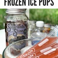 Blackberry Moonshine Frozen Ice Pops