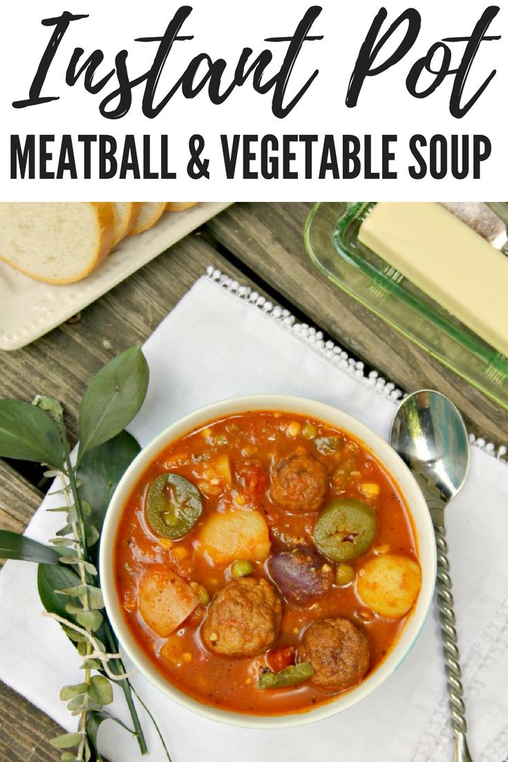 Instant Pot Meatball Vegetable Soup