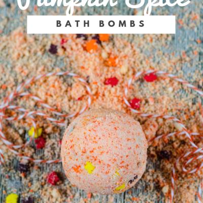 Autumn Pumpkin Spice Bath Bombs