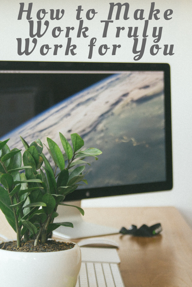 laptop on desk with plant