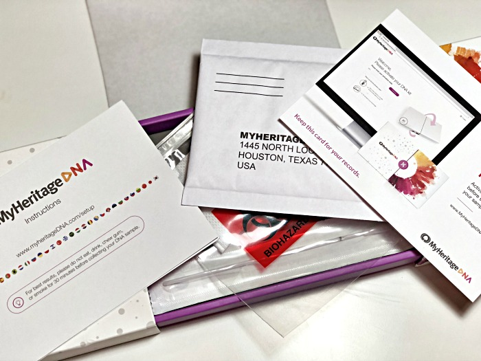 MyHeritage DNA kit contents