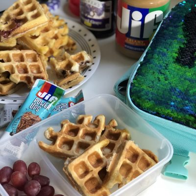 Peanut Butter and Jelly Stuffed Waffles