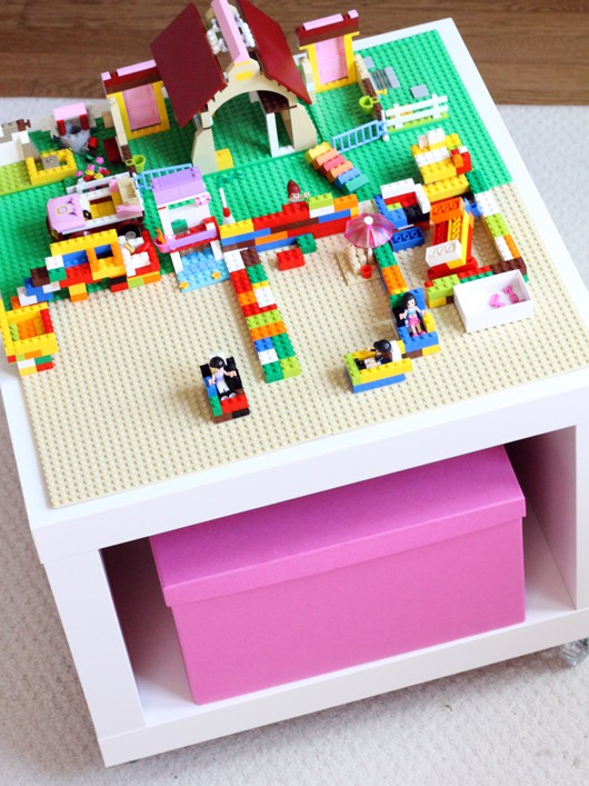 This easy LEGO table IKEA hack is a play table and storage all in one.