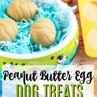 Peanut Butter Easter Egg Treats for Dogs