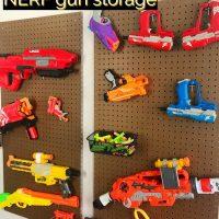 DIY Pegboard NERF Gun Storage