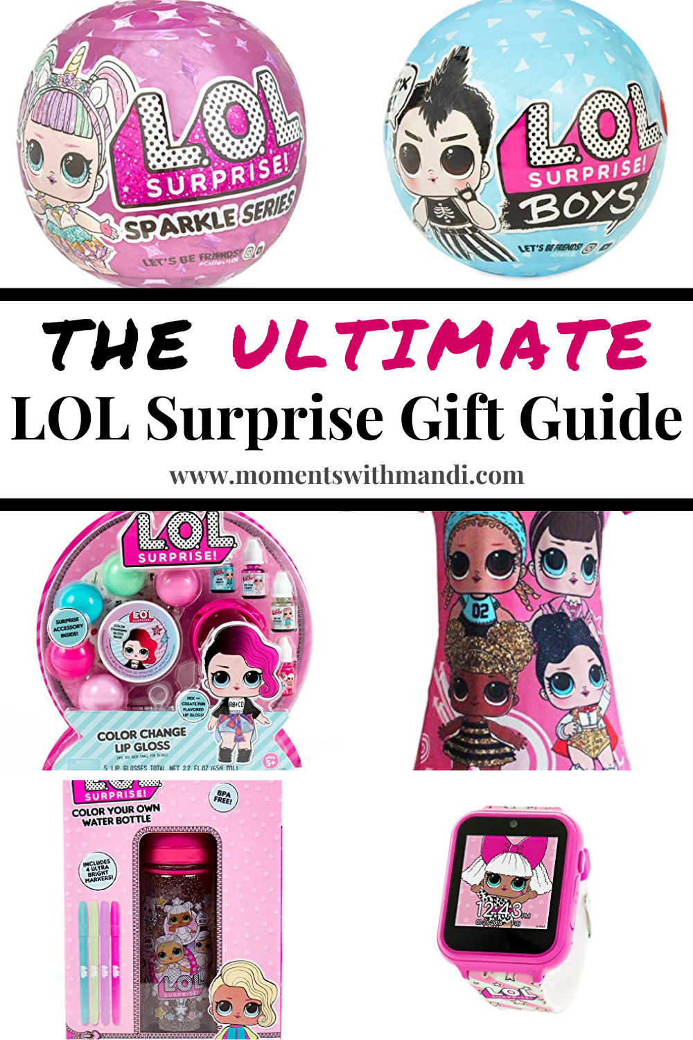 Glam Glitter Series Doll with 7 Surprises LOL Surprise Gift Kids 1 Pcs