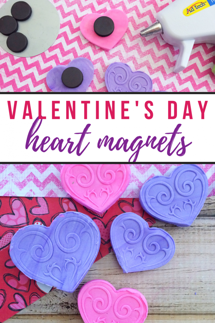 DIY Valentine's Day Heart Magnets