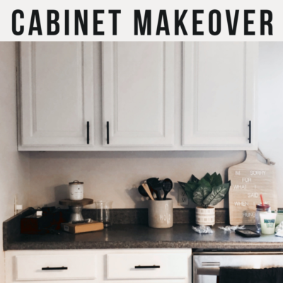 Kitchen Cabinet Makeover with Nuvo Cabinet Paint